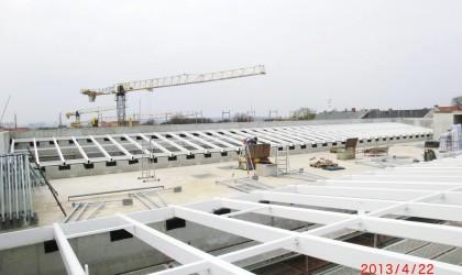 Neubau Universitätsbibliothek Halle – Stahlbeschichtung Dachkonstruktion